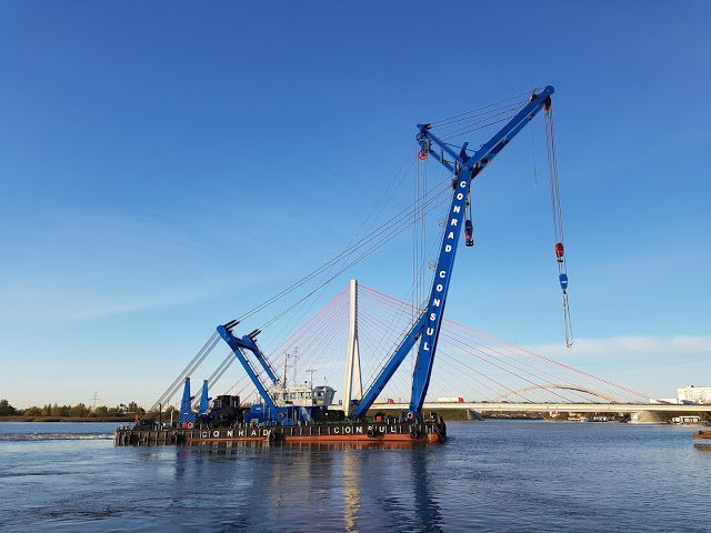 SP Load Cells on Floating Crane