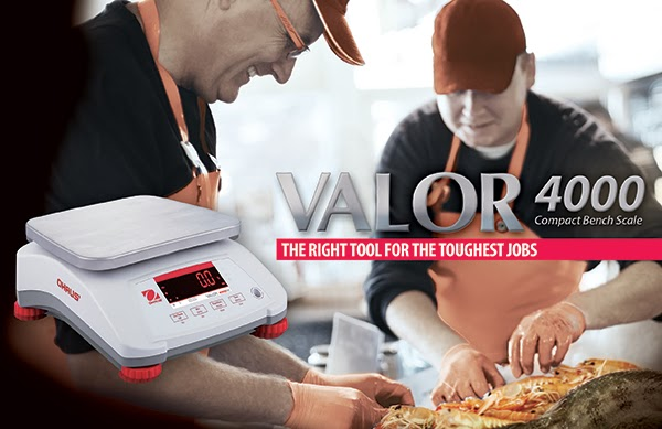 Ohaus is introducing the all New VALOR 4000 Compact Food Scales