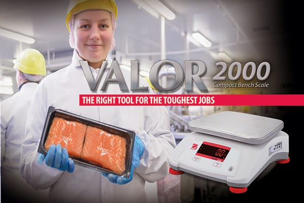 Ohaus is introducing the all New VALOR 2000 Compact Food Scales