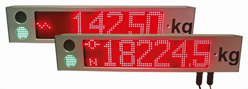 New LED Remote Displays for Weighing Applications with Weight Indicator Status
