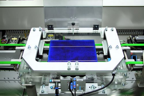 Wipotec® Weigh Cells determine Weight of Solar Cells