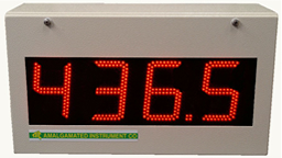 Daylight viewable large digit displays for use in direct sunlight and outdoor applications