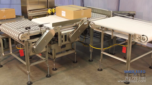Video showing the Box Weighing, Handling, Sorting, & Labeling System from Vande Berg Scales