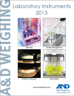 A&D Launches New 2013 Catalog for Laboratory Instruments