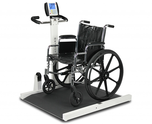 Detecto's new videos about the portable wheelchair scale model 6550