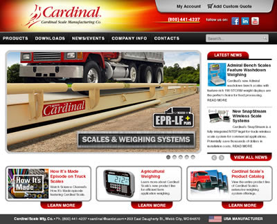 New Cardinal Scale Website