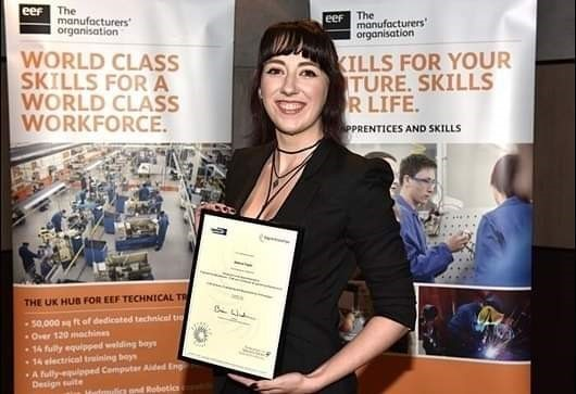 Engineering award winner continues to fly the flag for apprenticeship