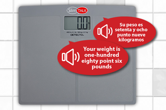 DETECTO's New SlimTALK Talking Scales