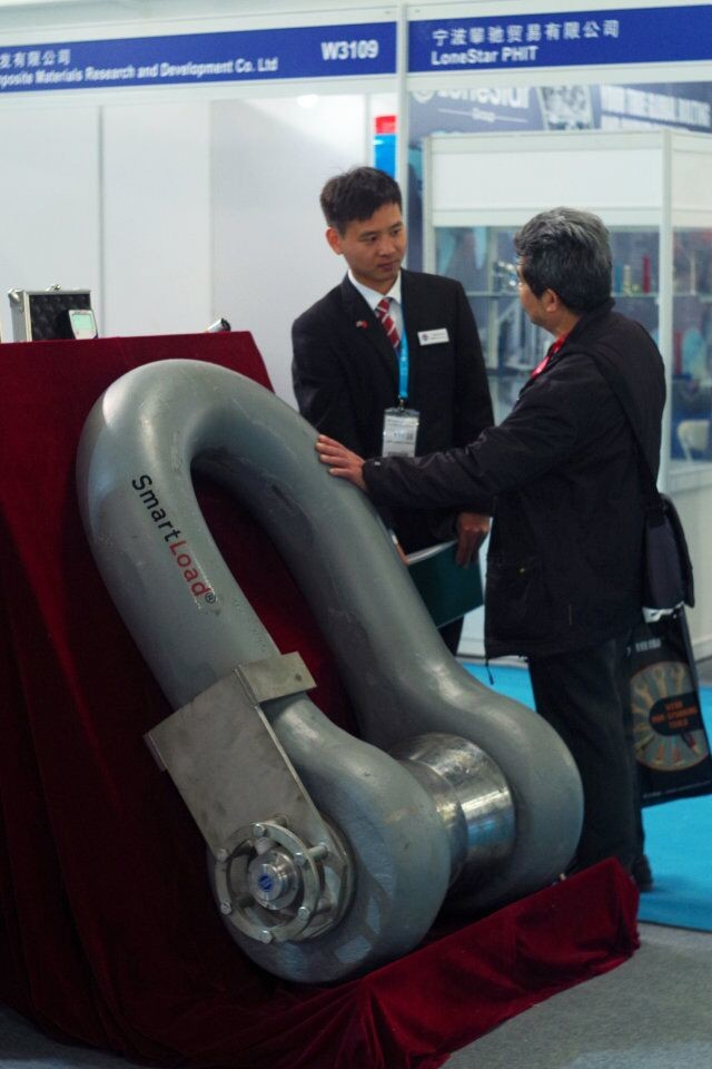 1000 Tonne Scotload Load Monitoring Shackle in use with China's National Offshore Oil Corporation