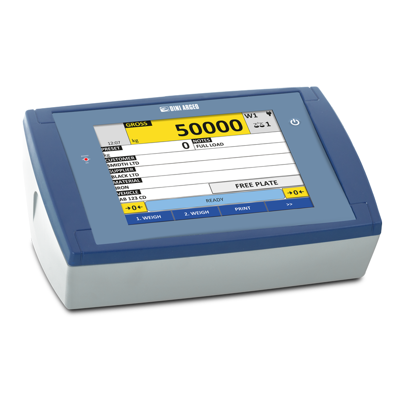Dini Argeo's New 3590ET8 Indicator with 8 inch Touch Screen Display