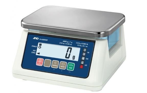 New A&D Weighing SJ-WP Series Washdown Compact Scale