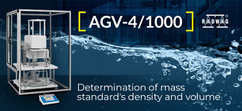 Determination of Mass Standard's Density and Volume with RADWAG AGV-4/1000
