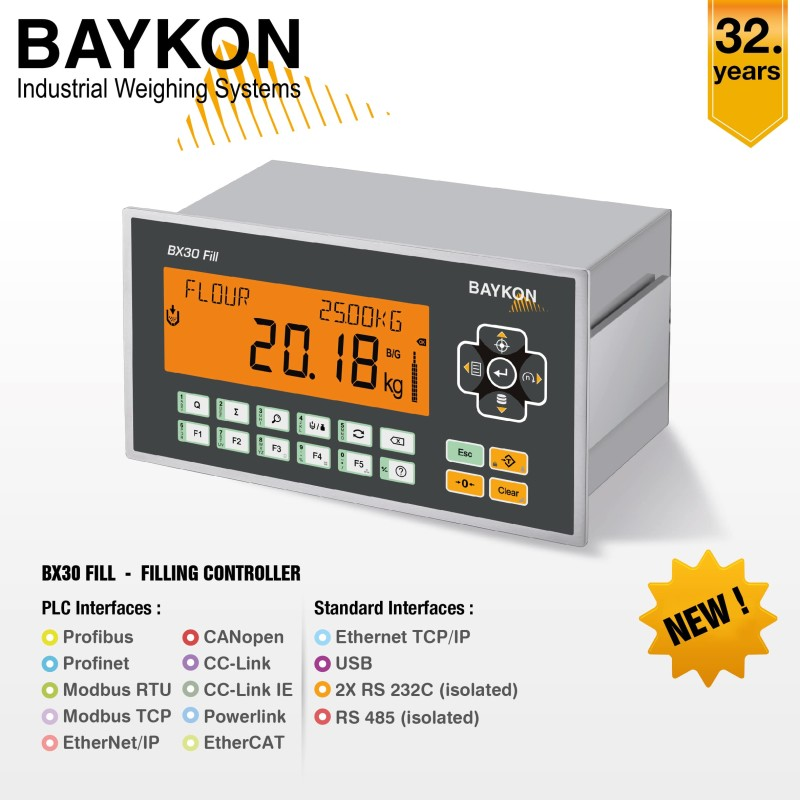 BX30 Fill  -  New Smart Controller for Filling and Packing Machines from BAYKON
