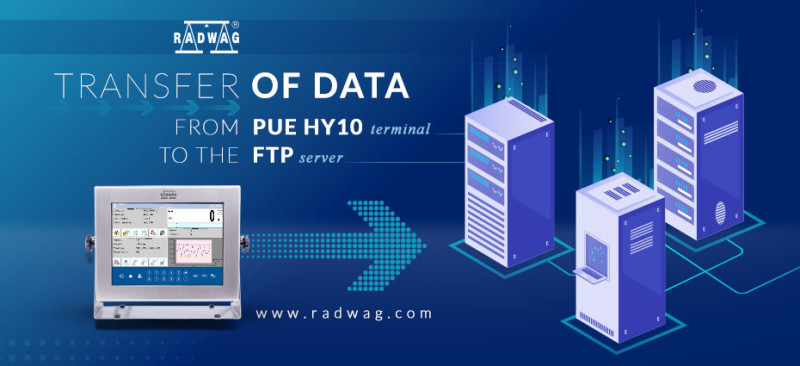 Transfer of data from PUE HY10 terminal to the FTP server