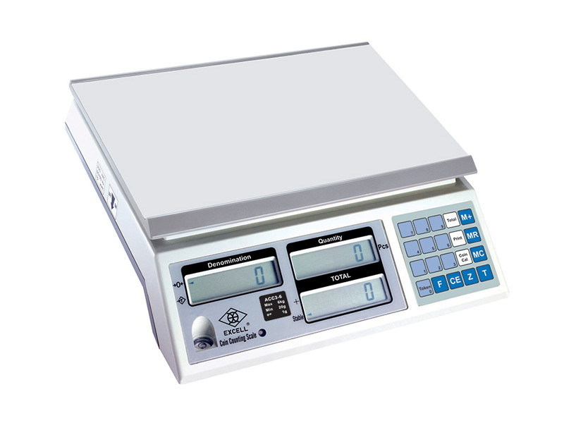 EXCELL Introduces New Coin Counting Scale ACC3