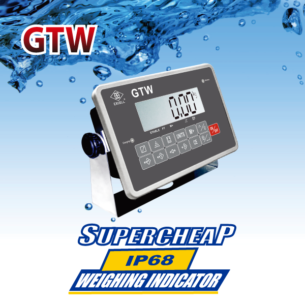 EXCELL Introduces Super-Cheap IP68 Waterproof Weighing Indicator - GTW