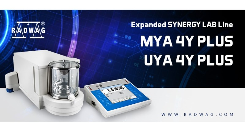 Expanded RADWAG SYNERGY LAB Line – New MYA 4Y PLUS and UYA 4Y PLUS Balances