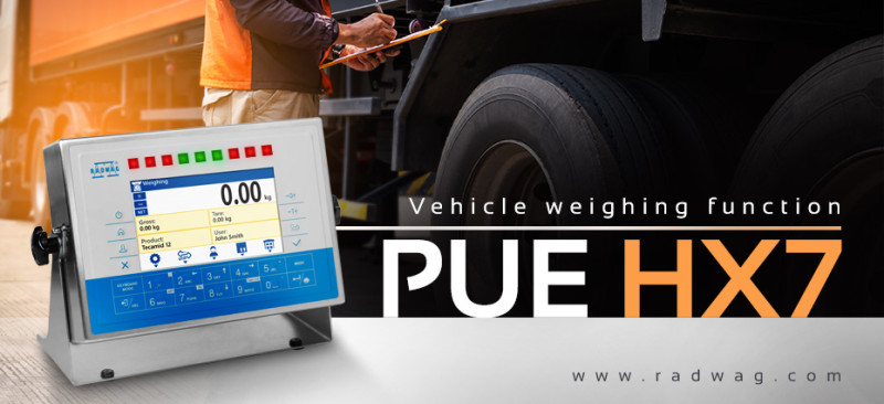 New Vehicle Weighing function in RADWAG PUE HX7 Terminal