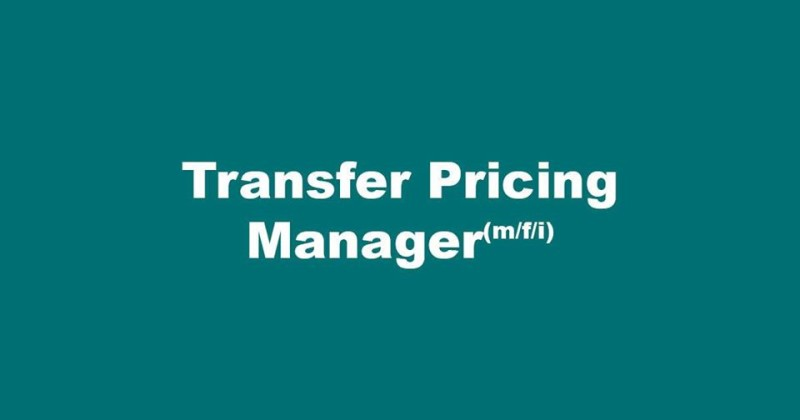 Job Offer by Schenck Process GmbH - Transfer Pricing Manager