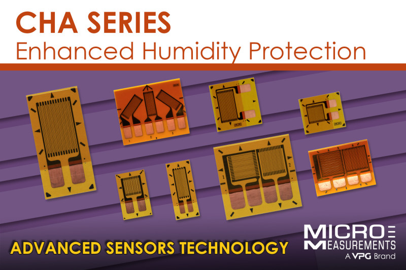 Micro-Measurements introduces CHA Series for Humidity-Exposure Applications