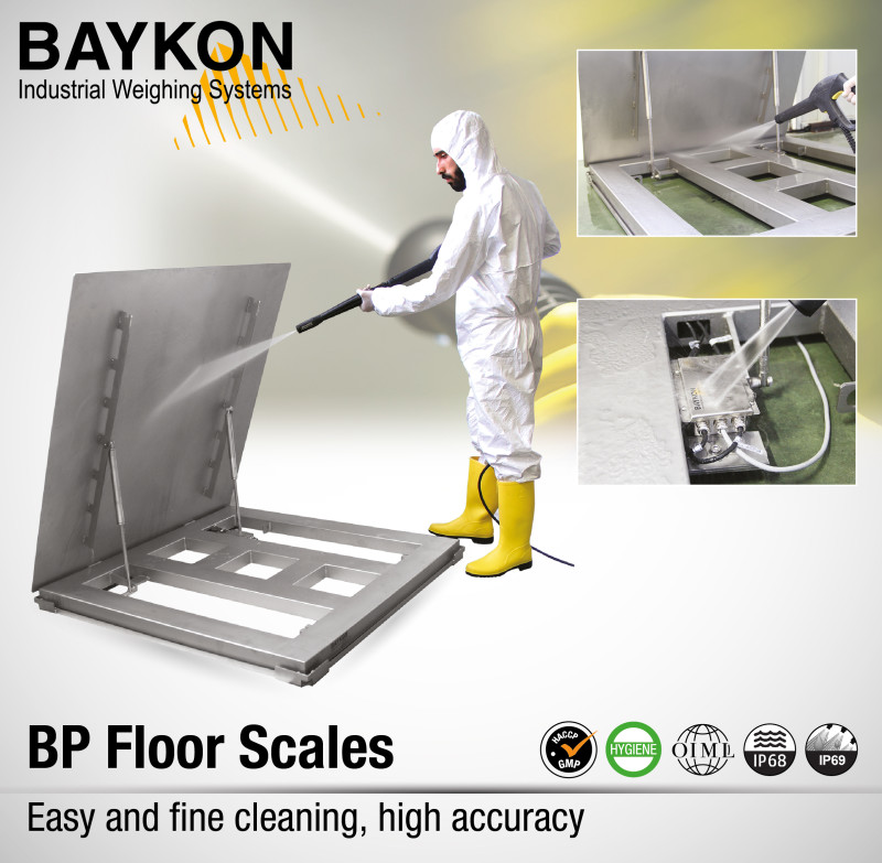 Easy and fine cleaning, high accuracy with Baykon BP Floor Scale