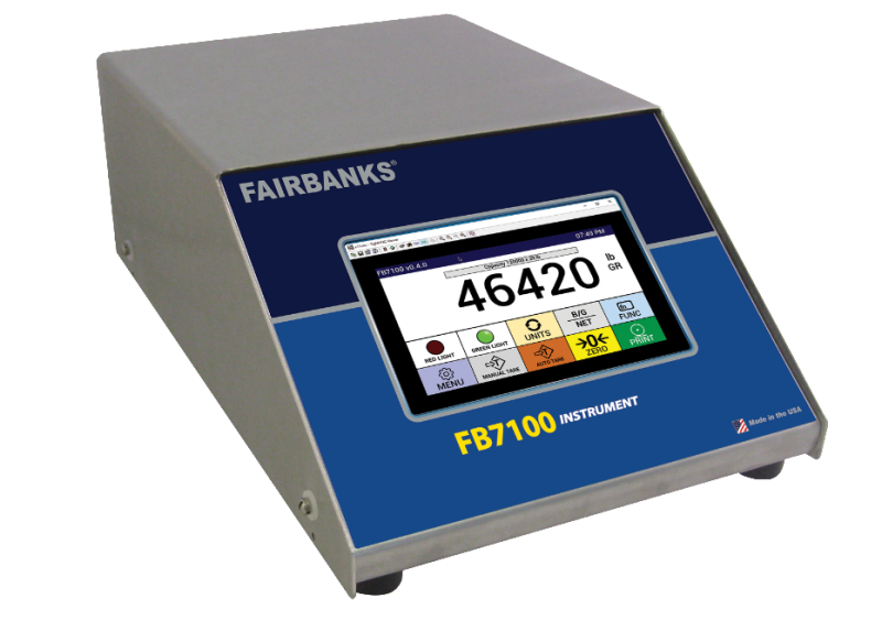 Fairbanks Scales' New FB7100 Line of Vehicle Scale Instruments Improve Efficiency for General, Single-Scale Operations