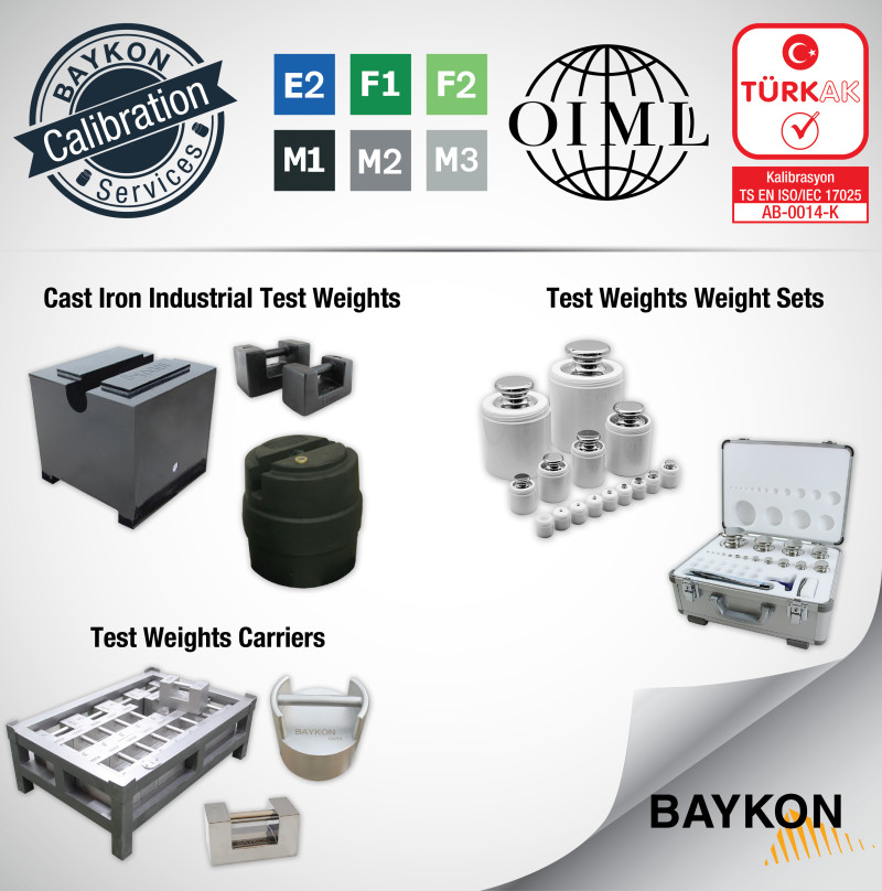 BAYKON Accredited Calibration Laboratory for Mass, Volume and Non-Automatic Weighing Instruments