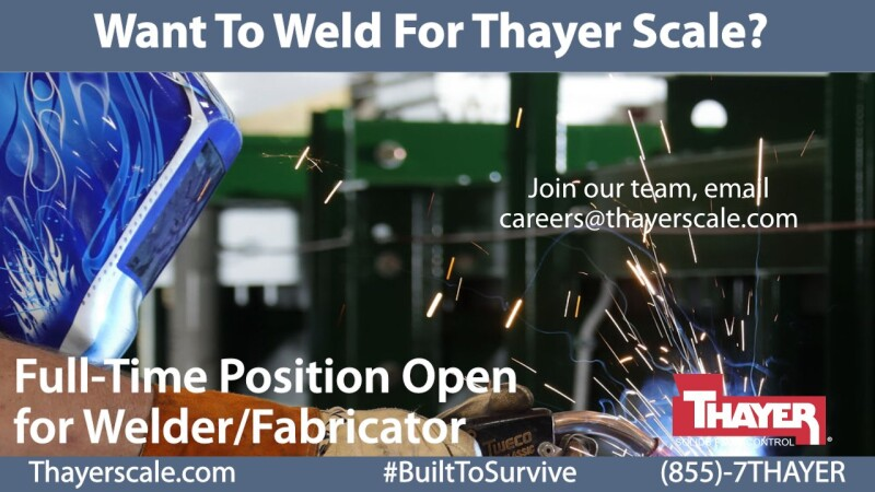 Job Offer by Thayer Scale-Hyer Industries, Inc. - Welder / Fabricator