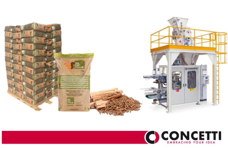 CONCETTI Case Study - Wood pellets in paper bags
