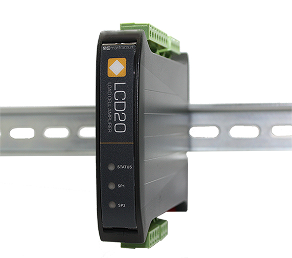 New LCD20 Load Cell and Strain Gauge DIN rail Signal Amplifier from Applied Measurements