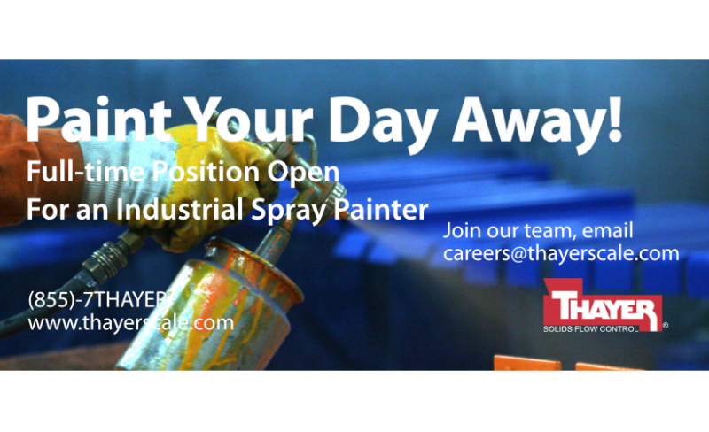Job Offer By Thayer Scale-Hyer Industries, Inc. - Industrial Spray Painter