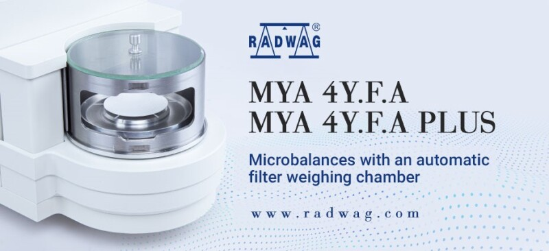 Increase Your Comfort of Filter Weighing with RADWAG's New Ultra-Microbalances and Microbalances