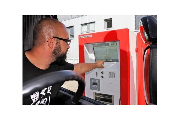 OAS AG Contactless Check-In of lorries at Self-Service Terminals & efficient Yard Automation