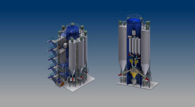 OAS AG Case Study: Our modular silo plant to increase your silo and dosing capacities