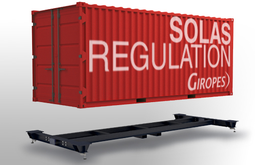 Giropès' New Solution to Weigh Containers according to SOLAS regulation