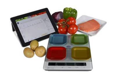 New Smart Diet Scale with four-quadrant technology and Bluetooth® connectivity