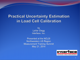 Interface's Webinar: Practical Uncertainty Estimation in Load Cell Calibration